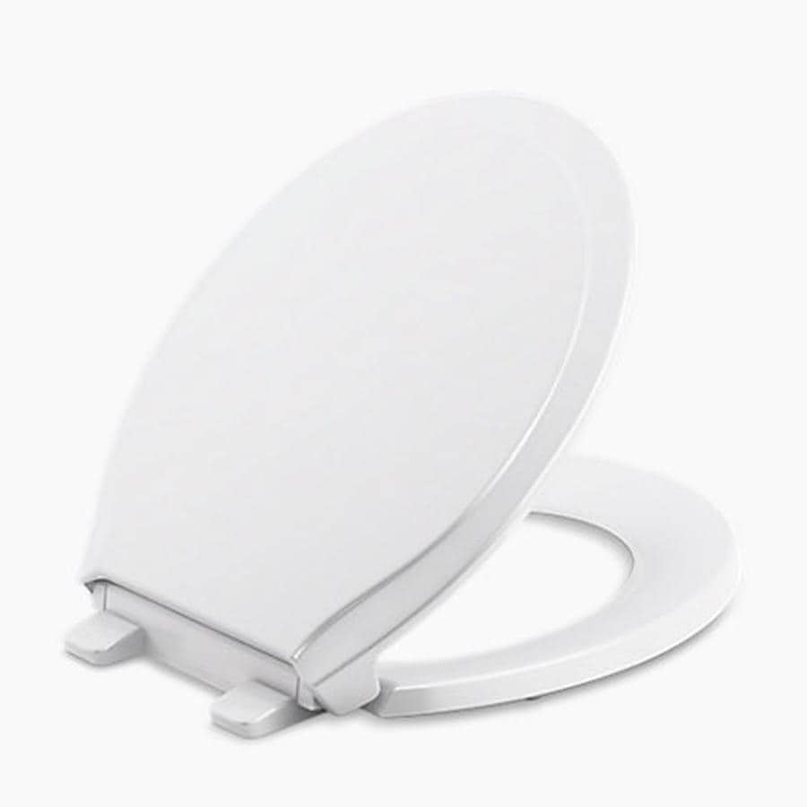 KOHLER Rutledge Plastic Round Slow-Close Toilet Seat