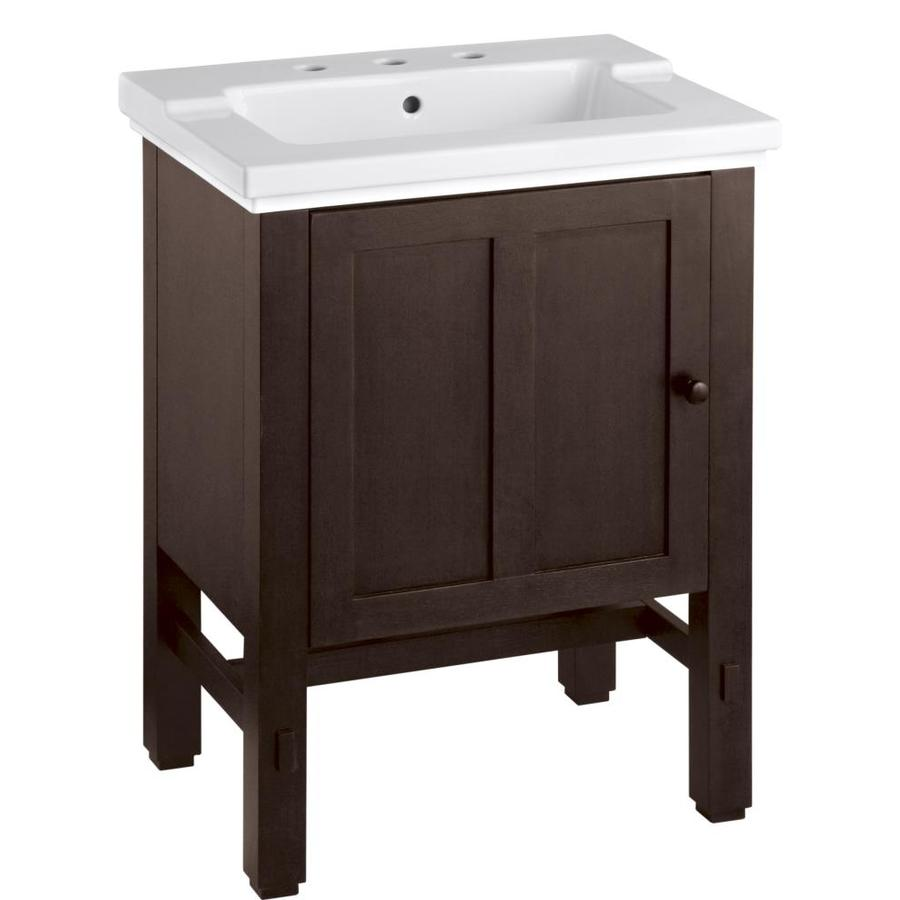 Kohler Tresham 24 4375 In Woodland Brown Single Sink