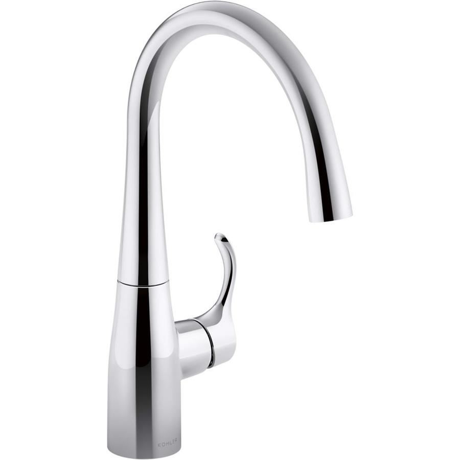 kohler simplice kitchen faucet gooseneck kohler simplice polished chrome 1handle higharc kitchen faucet shop