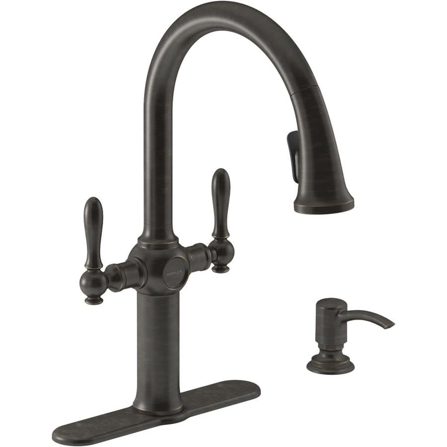 KOHLER Neuhaus Oil-rubbed bronze 2-Handle Pull-down Kitchen Faucet