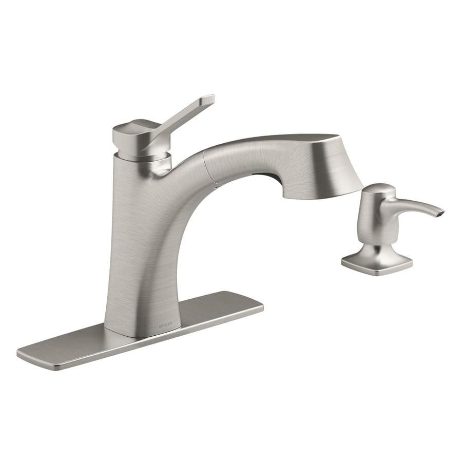 Beau KOHLER Maxton Vibrant Stainless 1 Handle Pull Out Kitchen Faucet