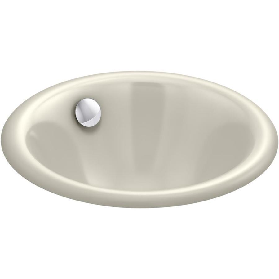 Cast Iron Bathroom Sinks Undermount: KOHLER Iron Plains Sandbar Cast Iron Drop-In Or Undermount
