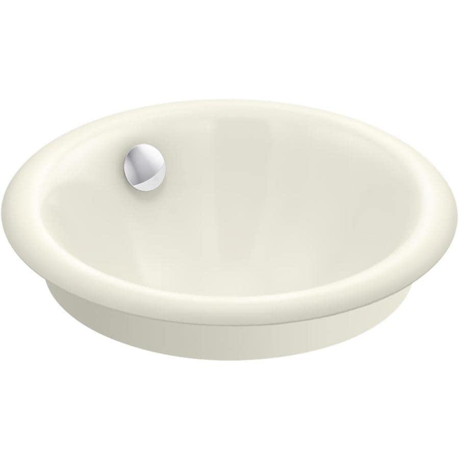 Cast Iron Bathroom Sinks Undermount: KOHLER Iron Plains Biscuit Cast Iron Drop-In Or Undermount