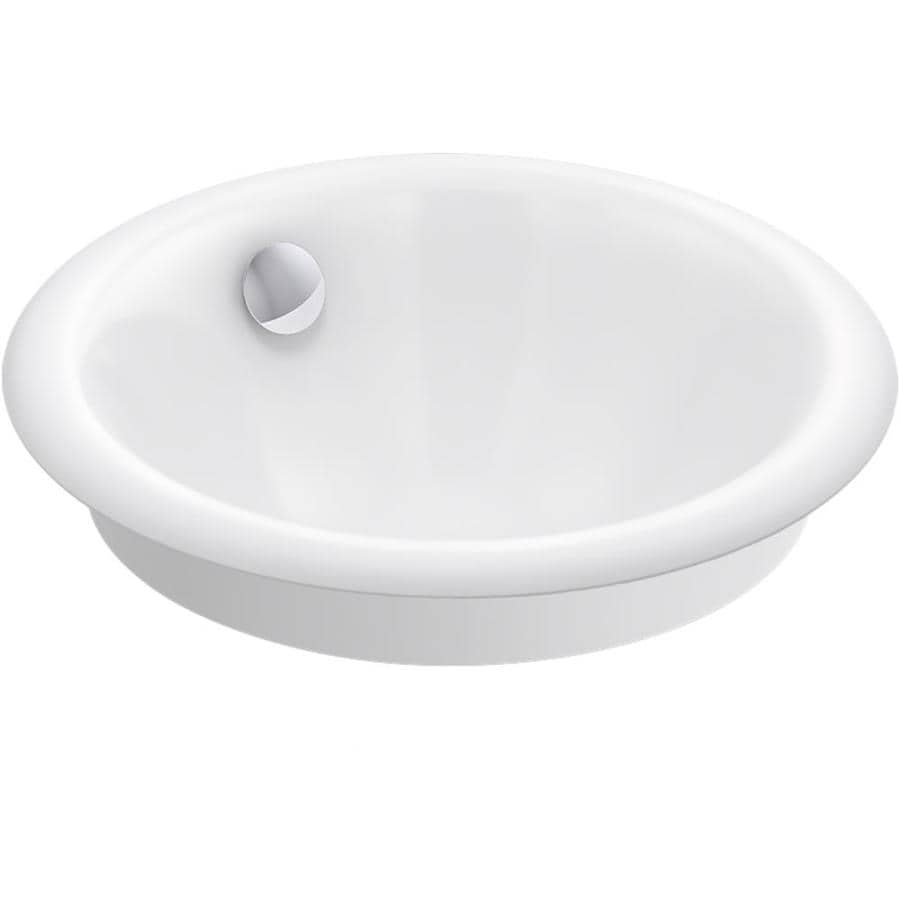 Kohler Iron Plains White Cast Iron Drop In Or Undermount