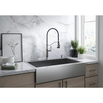 Vault 30 In X 24 25 Single Bowl Drop A Front Farmhouse 2 Hole Commercial Residential Kitchen Sink