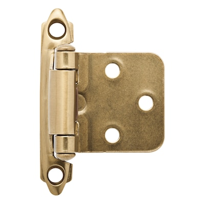 2-Pack 2-3/4-in X 1-3/4-in Self-Closing Overlay Cabinet Hinge