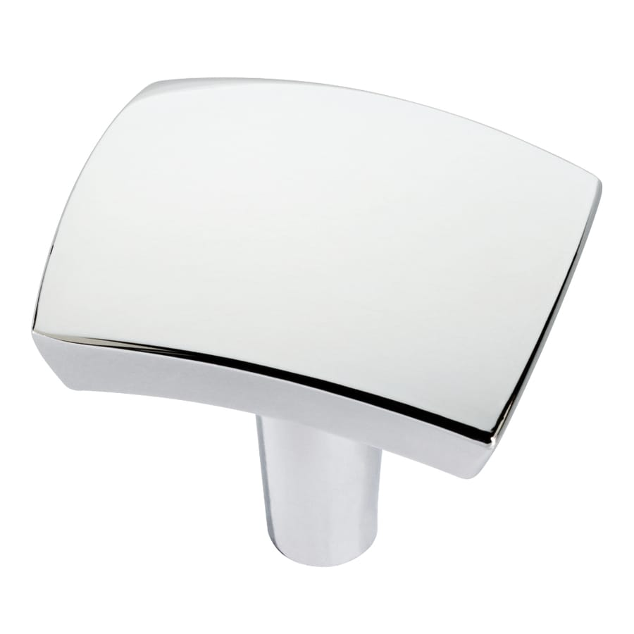 Brainerd Polished Chrome Rectangular Cabinet Knob