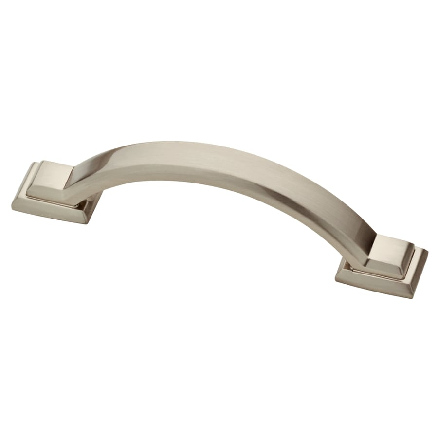 Shop brainerd 3 in center to center satin nickel for 3 kitchen cabinet handles
