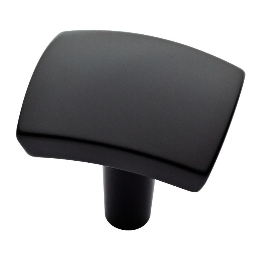 Brainerd Flat Black Rectangular Cabinet Knob