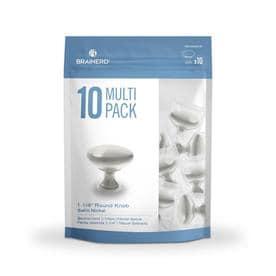 Brainerd 10-Pack Satin Nickel Round Cabinet Knob