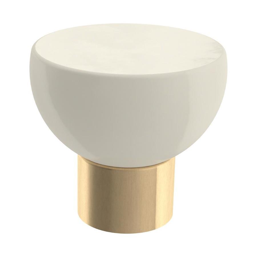 Brainerd Champagne Bronze And Ivory Round Cabinet Knob