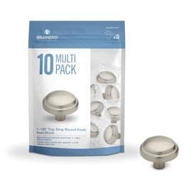 Brainerd 10-Pack Basics Satin Nickel Round Cabinet Knob