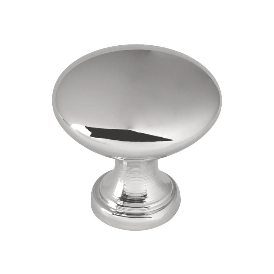 Brainerd Polished Chrome Round Cabinet Knob