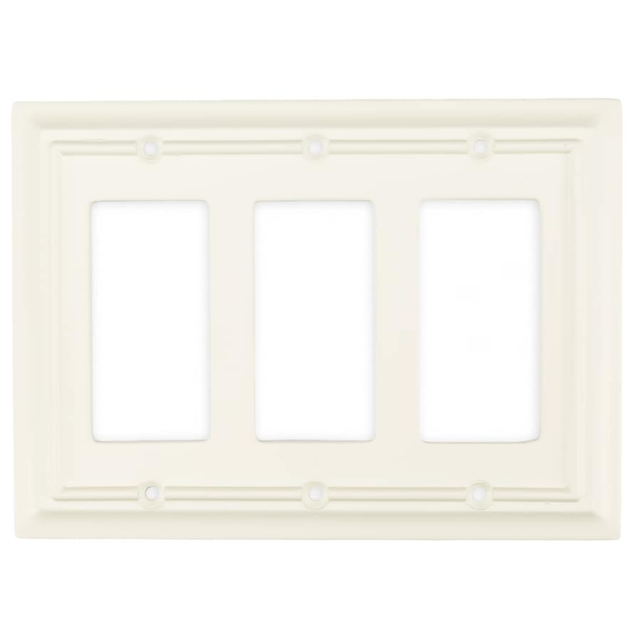 Brainerd 3-Gang Cream Decorator Wall Plate