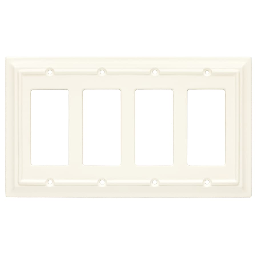 Brainerd 4-Gang Cream Decorator Wall Plate