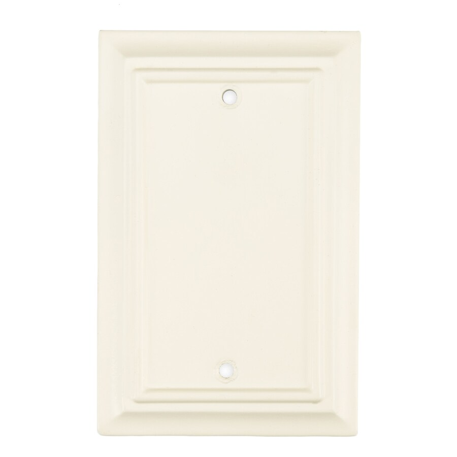 Brainerd 1-Gang Cream Blank Wall Plate