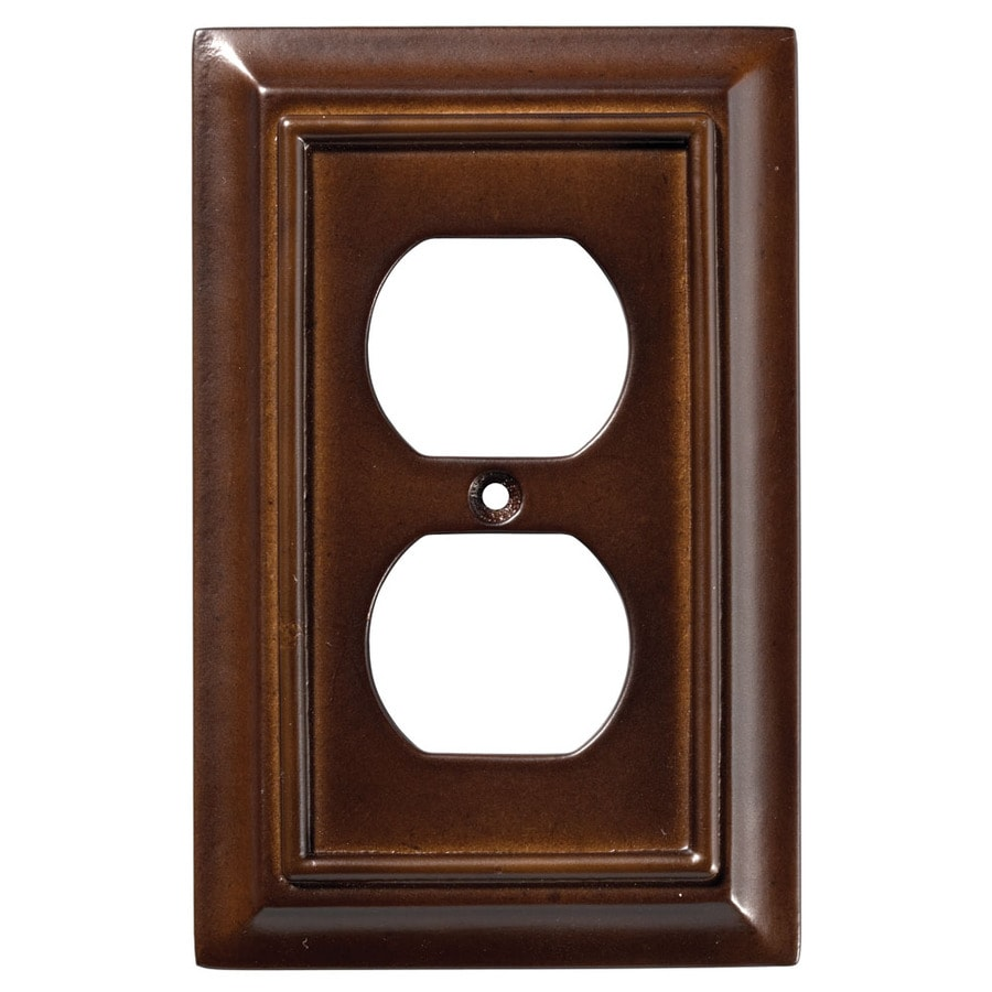 Brainerd Wood Architectural 1-Gang Espresso Single Duplex Wall Plate