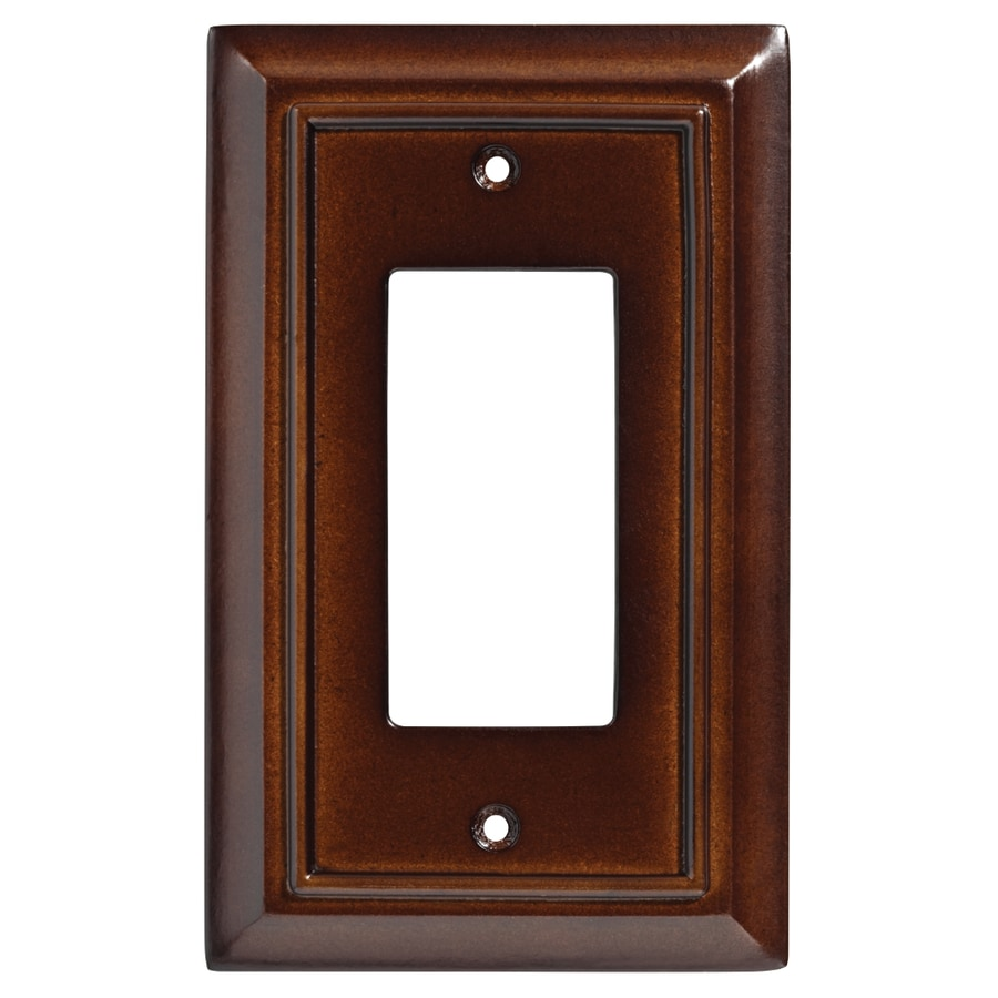Brainerd Wood Architectural 1-Gang Espresso Single Decorator Wall Plate