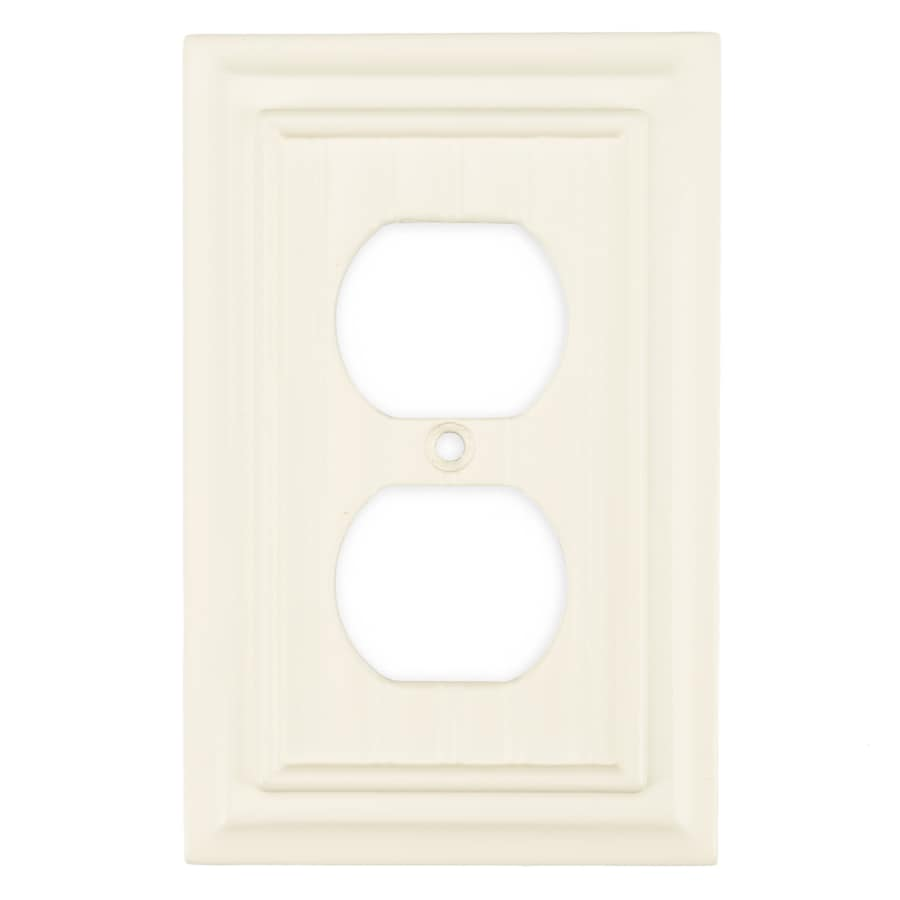 Brainerd 1-Gang Cream Single Round Wall Plate