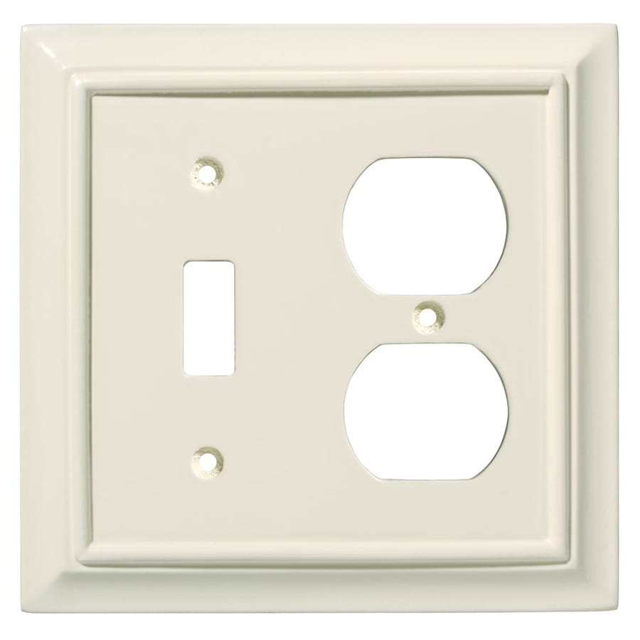 Brainerd 2-Gang Almond Round Wall Plate