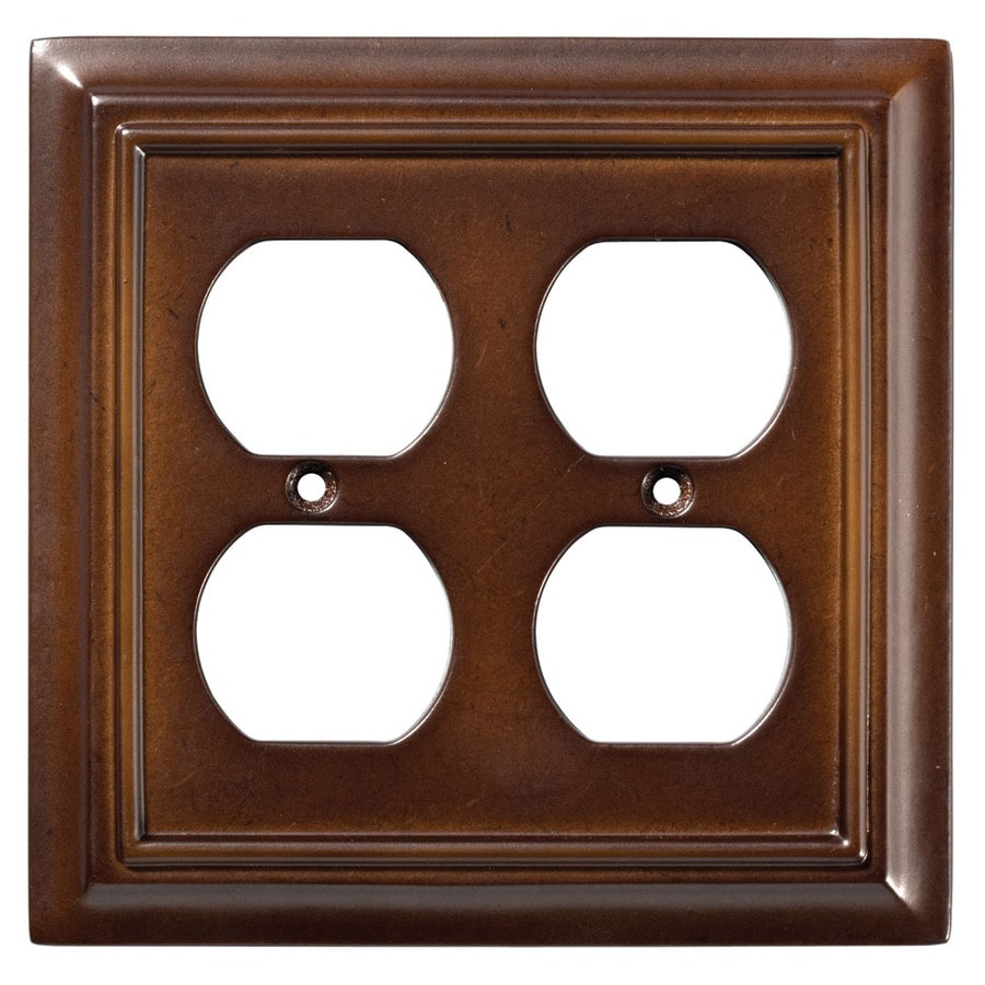 Brainerd Architectural 2-Gang Espresso Double Duplex Wall Plate