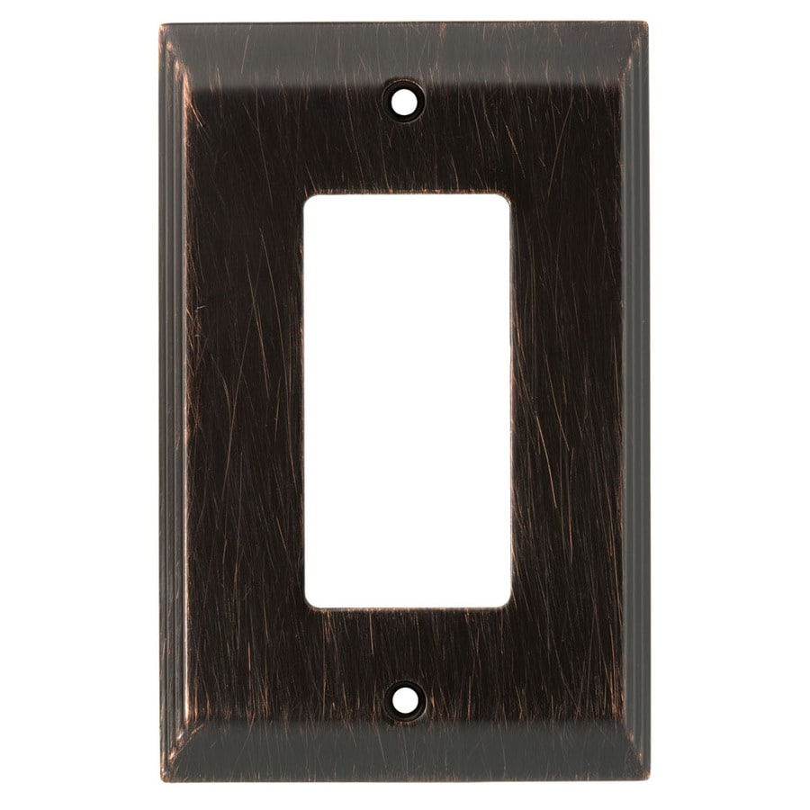 "Brainerd 3-1/8""W x 4-7/8""H Venetian Bronze Decorator Rocker Metal Wall Plate"