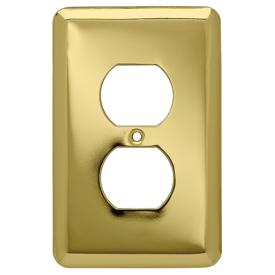 Style Selections 6-Pack 1-Gang Polished Brass Round Wall Plates
