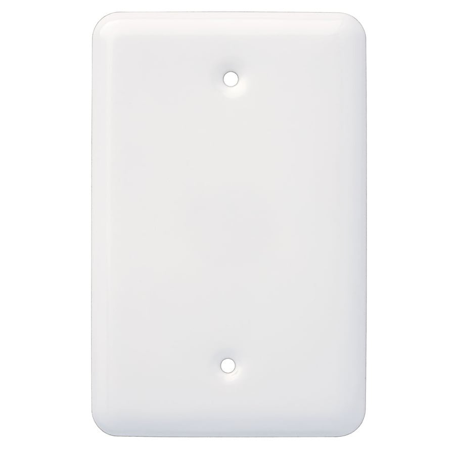 Style Selections Stamped Round 1-Gang White Single Toggle Wall Plate