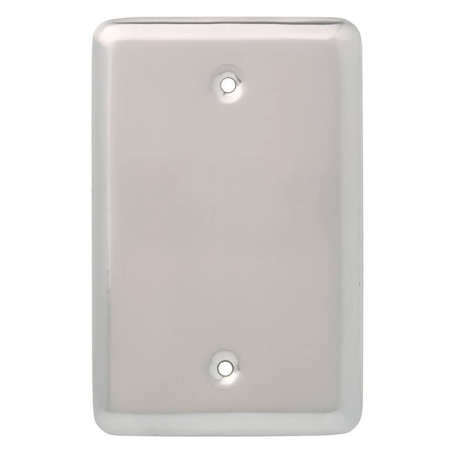 Style Selections 1-Gang Satin Nickel Toggle Wall Plate