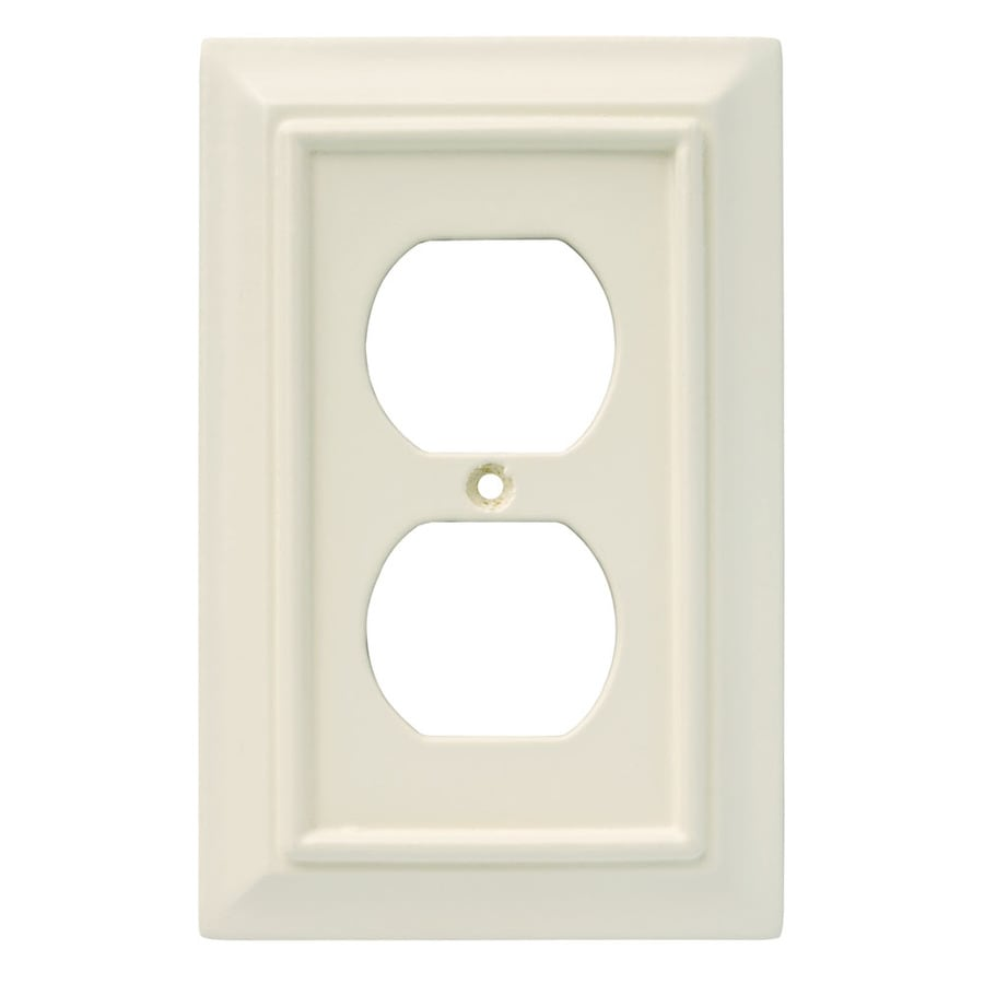 Brainerd 1-Gang Almond Single Round Wall Plate
