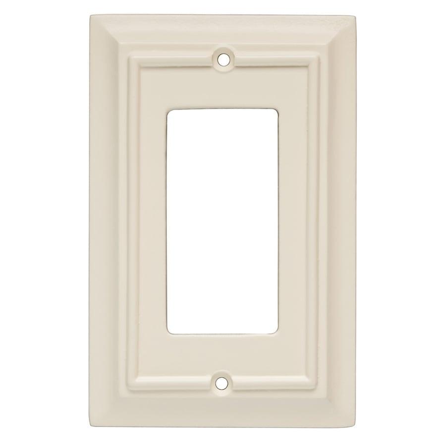 Brainerd 1-Gang Almond Decorator Wall Plate