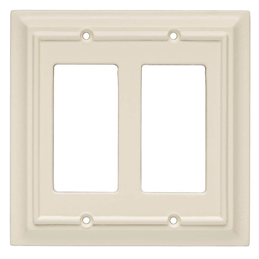 Brainerd 2-Gang Almond Decorator Wall Plate