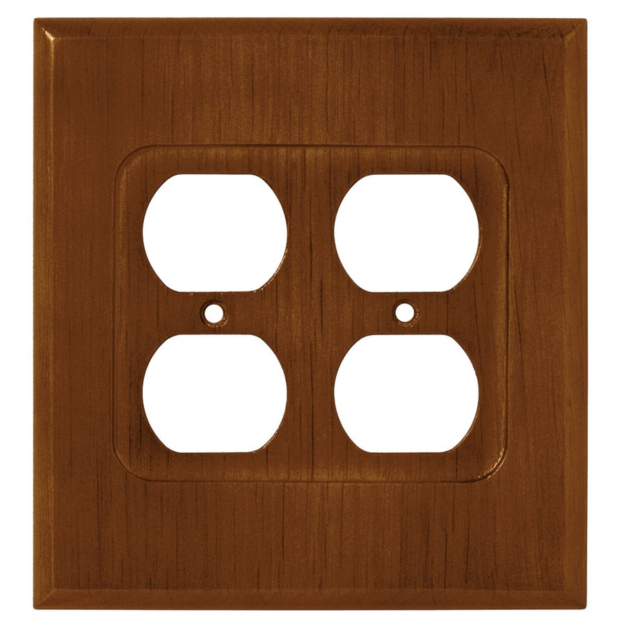 Brainerd 2-Gang Dark Oak Round Wall Plate
