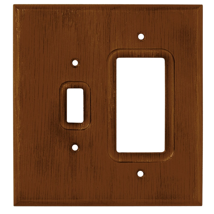 Brainerd 2-Gang Dark Oak Decorator Wall Plate