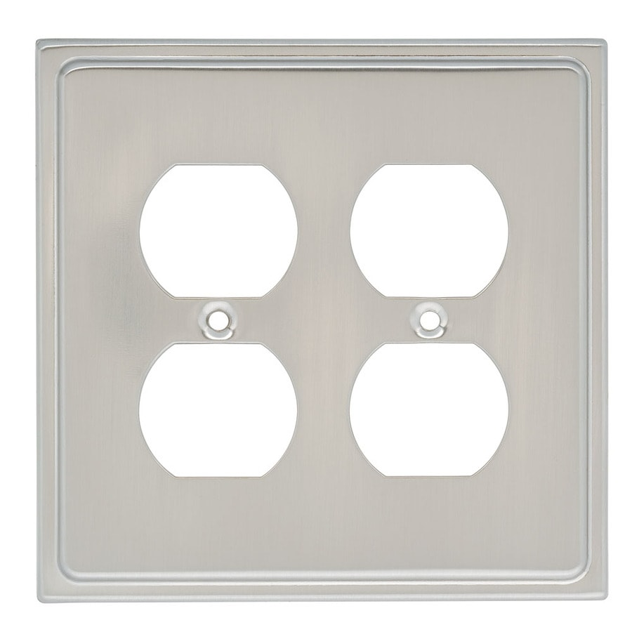 Brainerd 4-Gang Satin Nickel Round Wall Plate