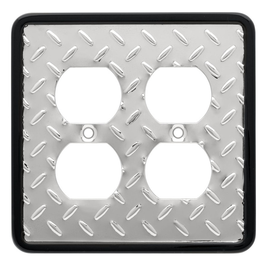Brainerd 4-Gang Chrome Standard Toggle Steel Wall Plate