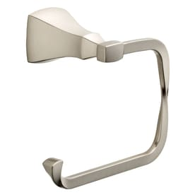 Delta Sawyer Satin Nickel Surface Mount Single Post Toilet Paper Holder