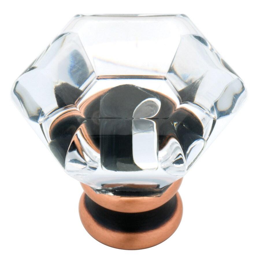 Brainerd Bronze with Copper Highlights Octangular Cabinet Knob
