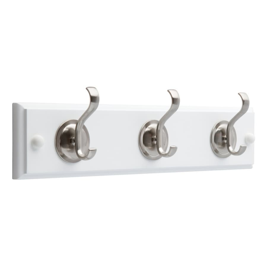Brainerd White and Satin Nickel Garment Hook
