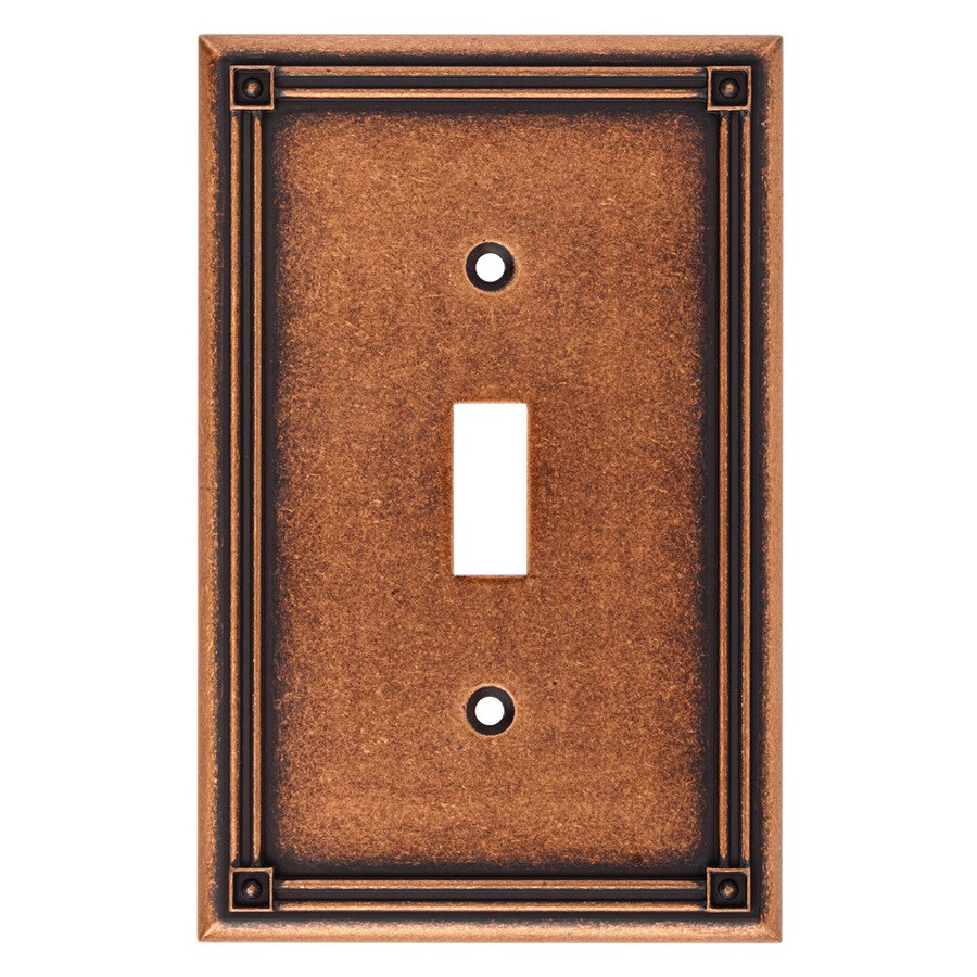 Brainerd Rowland 1-Gang Sponged Copper Single Toggle Wall Plate