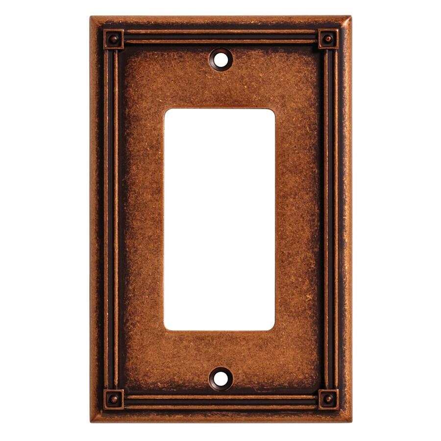 Brainerd Ruston 1-Gang Sponged Copper Single Decorator Wall Plate