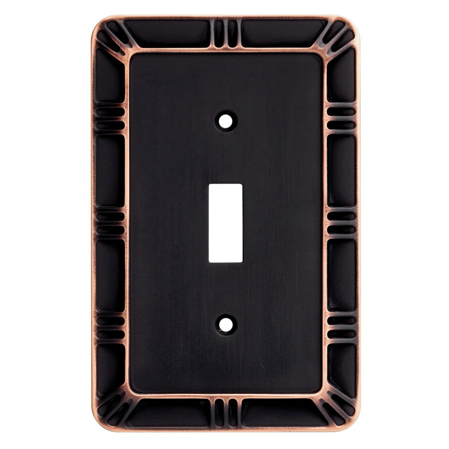 Brainerd 1-Gang Bronze with Copper Highlights Toggle Wall Plate
