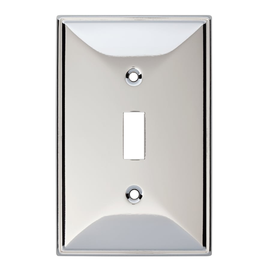 Brainerd Beverly 1-Gang Polished Chrome Single Toggle Wall Plate