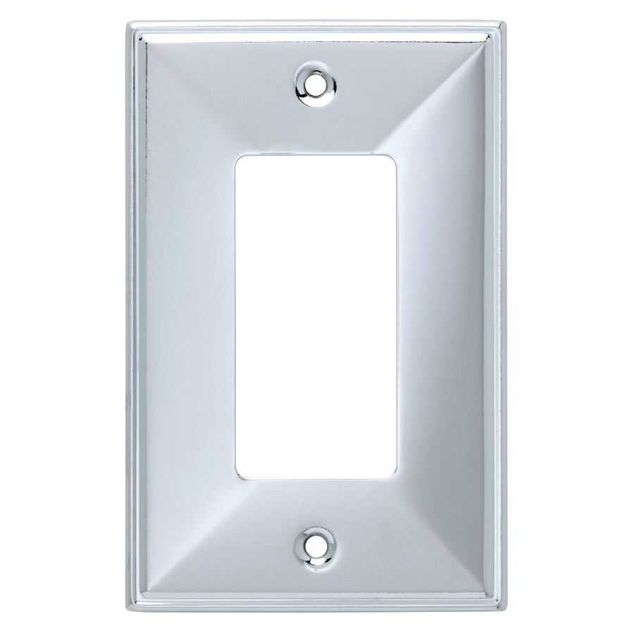 Brainerd Beverly 1-Gang Polished Chrome Single Decorator Wall Plate