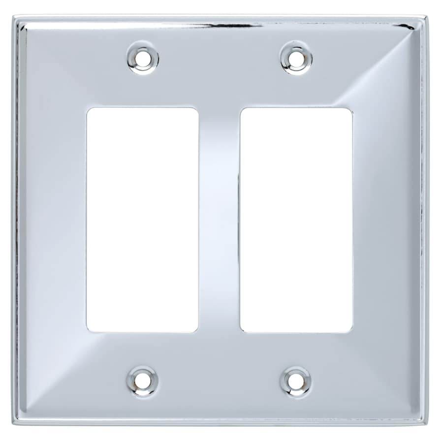 Brainerd Beverly 2 Gang Polished Chrome Double Decorator Wall Plate