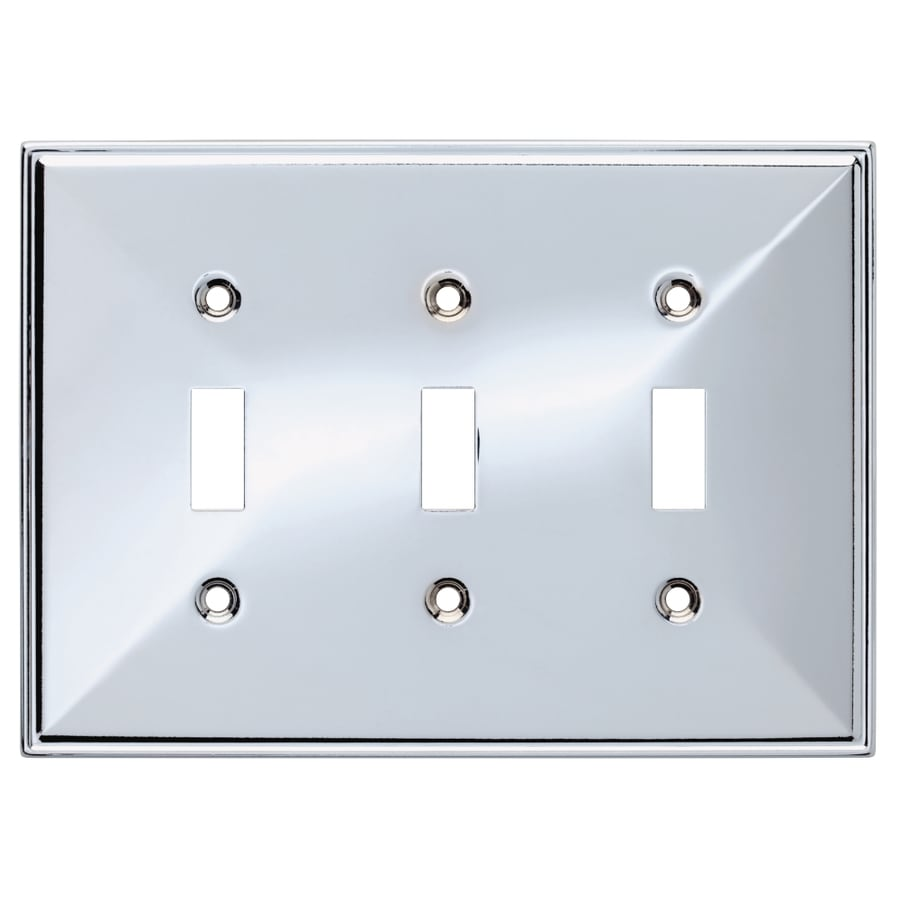 Brainerd Beverly 3-Gang Polished Chrome Triple Toggle Wall Plate