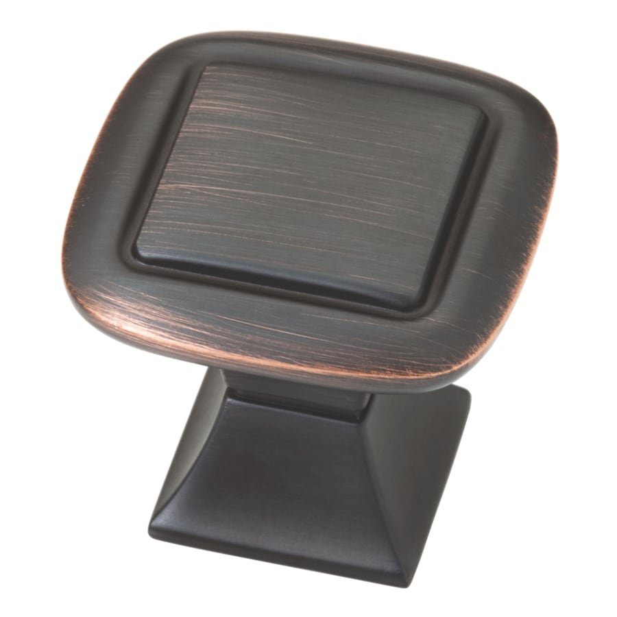 Brainerd Bronze with Copper Highlights Square Cabinet Knob