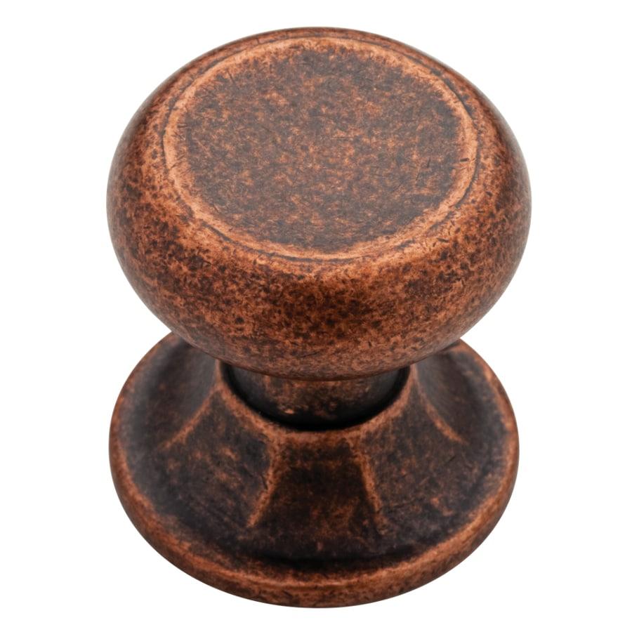 shop brainerd meridian copper round cabinet knob at