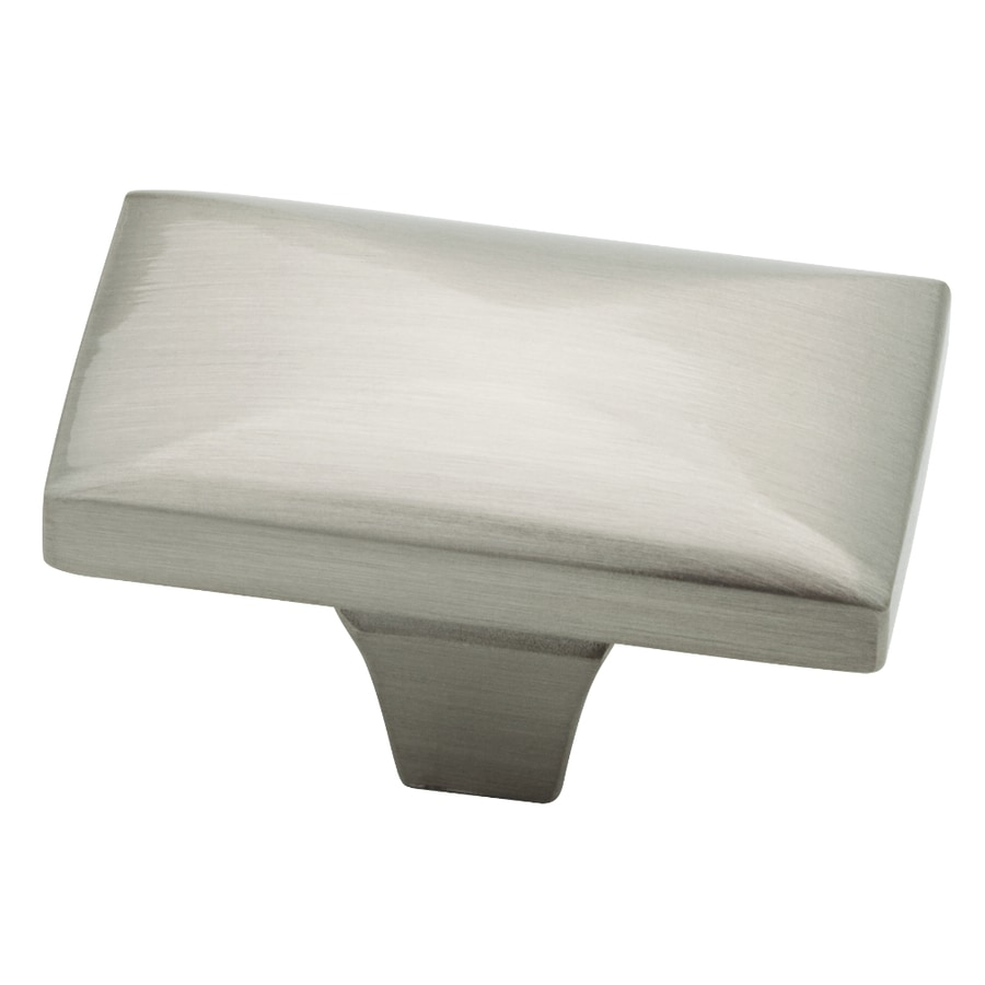 Brainerd Beverly Satin Nickel Rectangular Cabinet Knob At Lowes Com