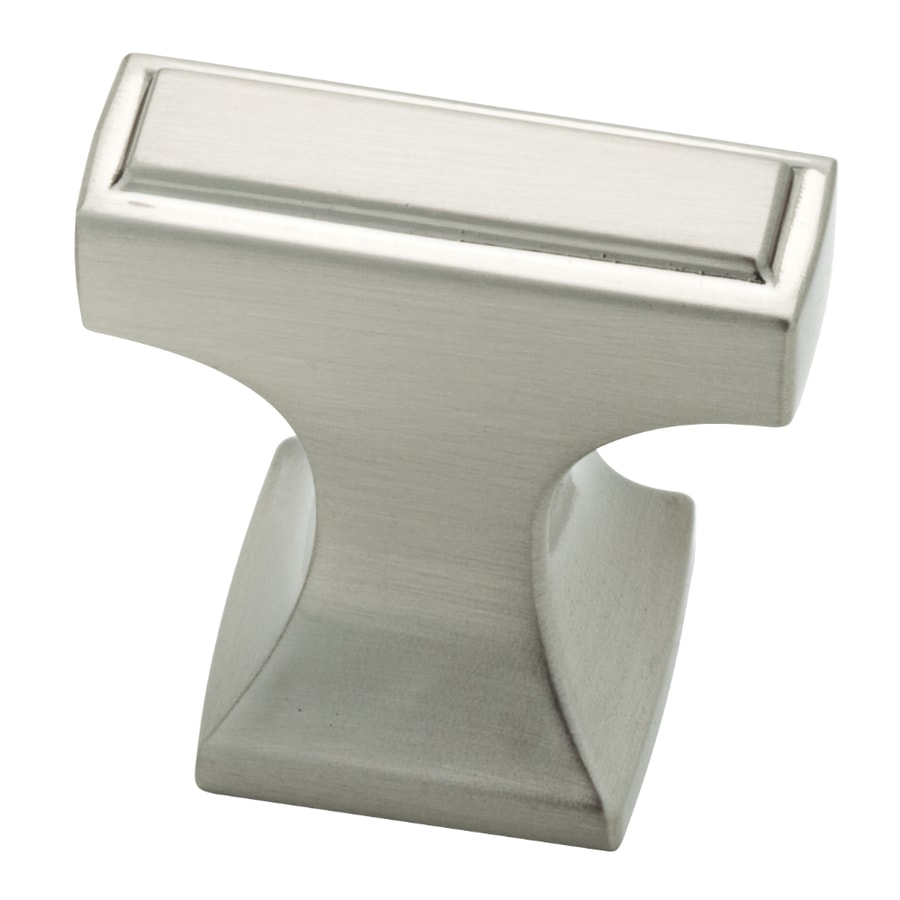 Brainerd Satin Nickel Rectangular Cabinet Knob